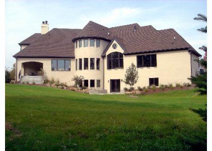 glen oaks custom home exterior